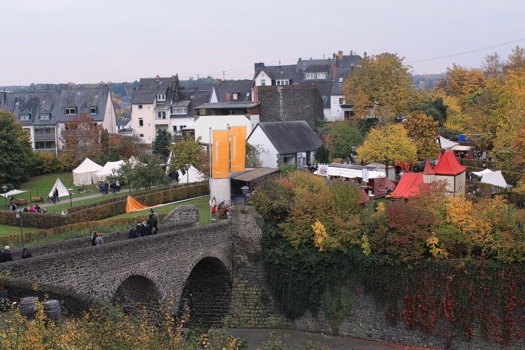 Der Markt, vom Burgturm aus gesehen